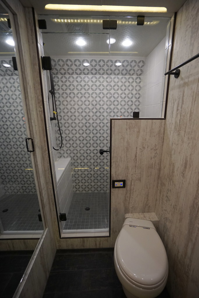 restroom and shower in rear bedroom