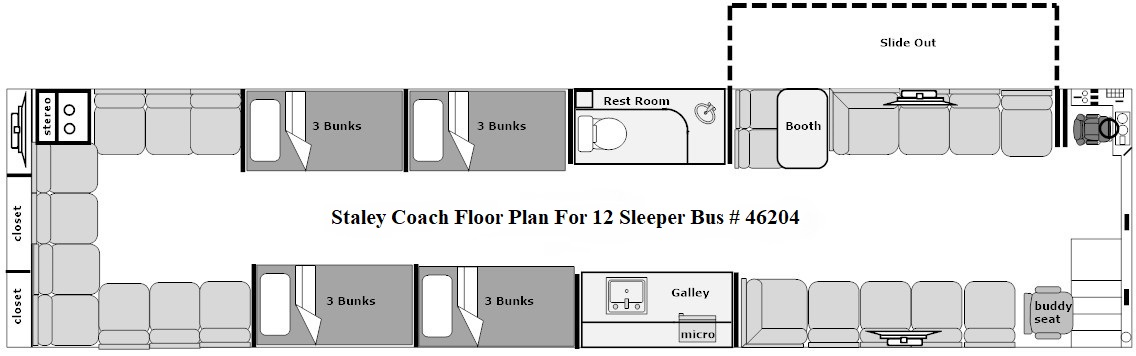 floor plan for bus 46225