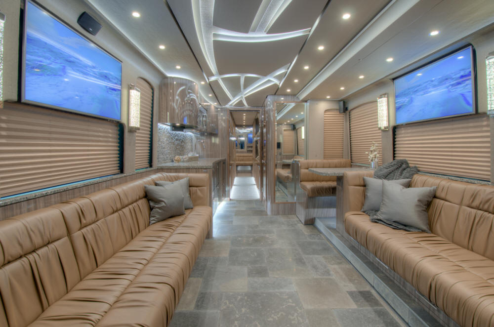 2018 X3-45 Prevost Entertainer Bus  # 46225 For Sale at Staley Bus Sales , Nashville, Tennessee.