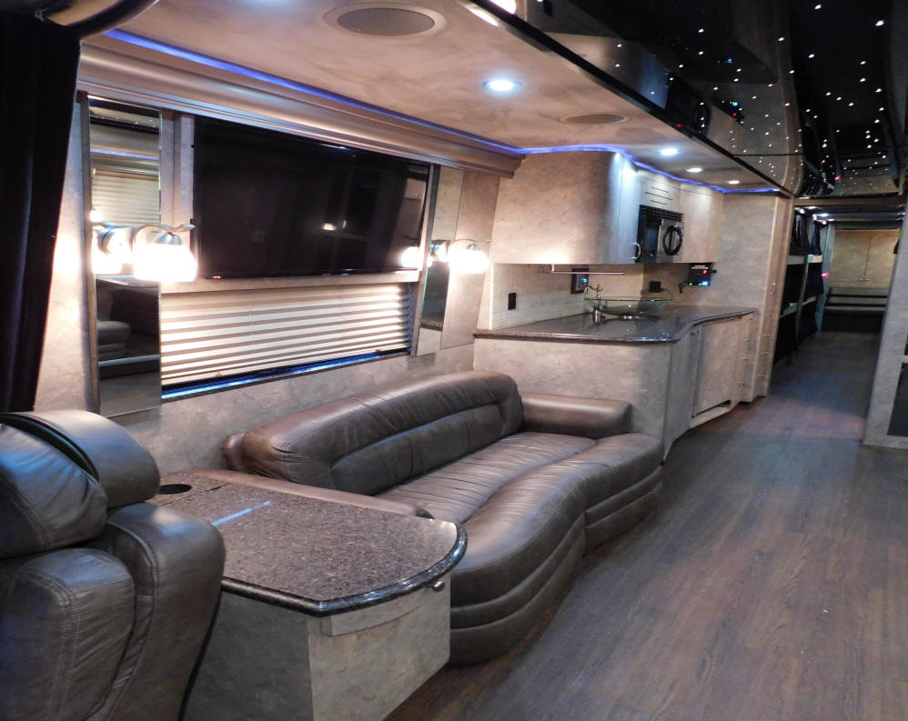 2008 Prevost XLII Entertainer Bus # 49250  with a Front Slide Out For Sale at Staley Bus Sales in Nashville, Tennessee