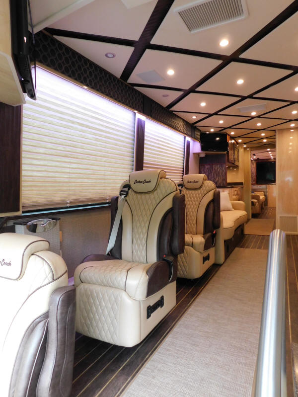 2019 H3-45 Prevost Executive VIP Bus # 49350 by Custom Coach For Sale by Staley Coach, Nashville, Tennessee.