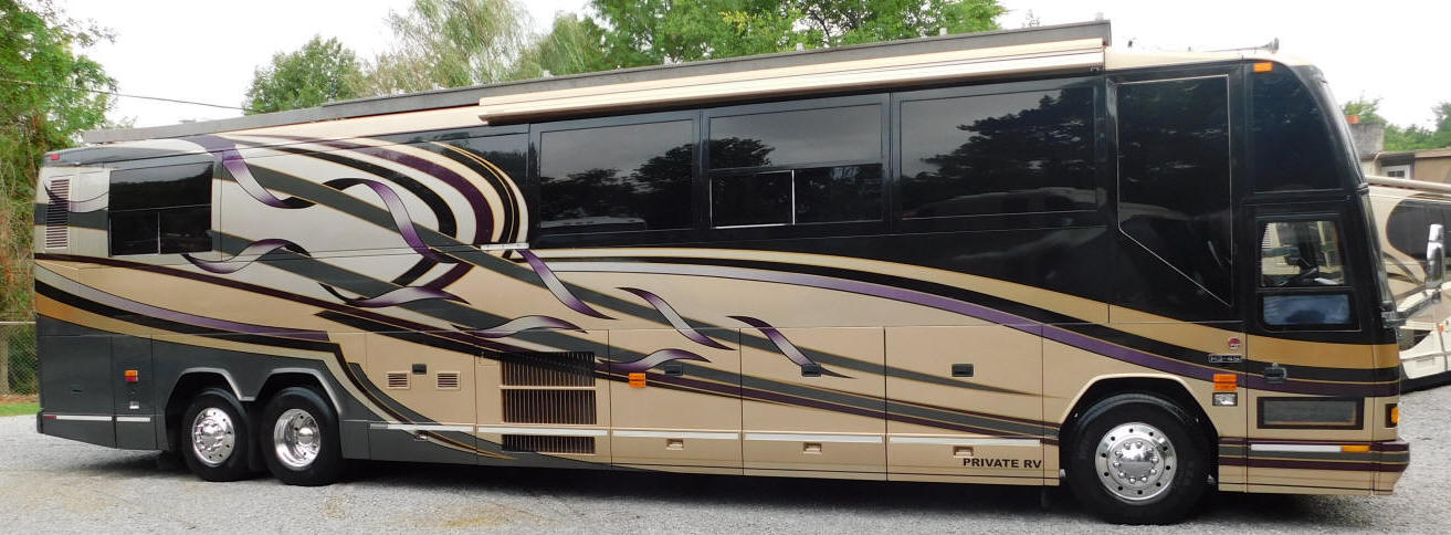 1999 H3-45 Prevost Star Bus # 49345 For Sale at Staley Bus Sales / Staley Coach in Nashville, Tennessee.