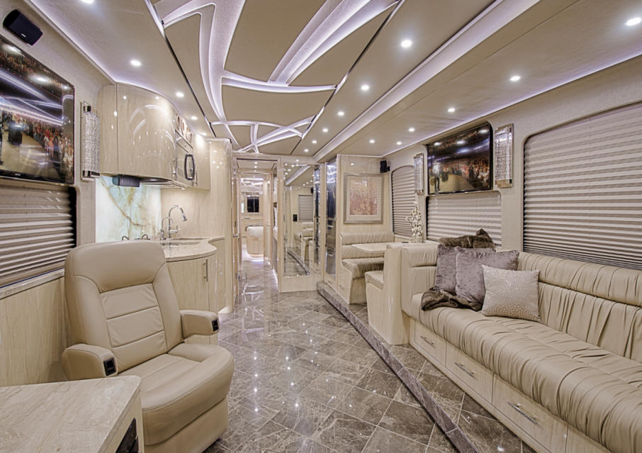 front lounge of motorhome for sale