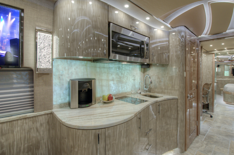 prevost motorhome galley