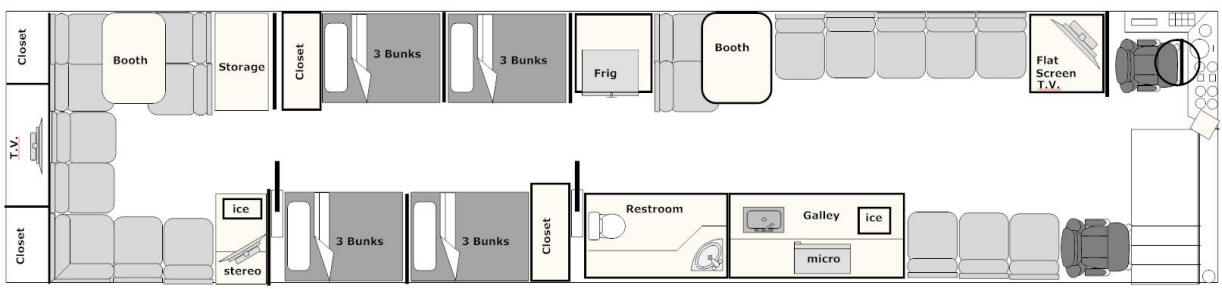 floor plan for bus # 49105