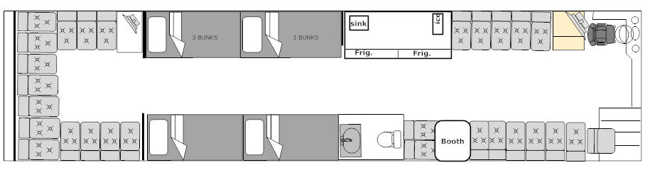 FLOOR PLAN FOR BUS # 49118