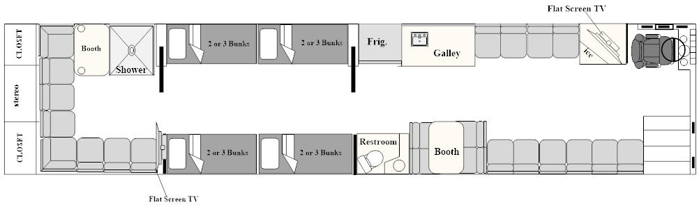 floor plan for bus # 49256