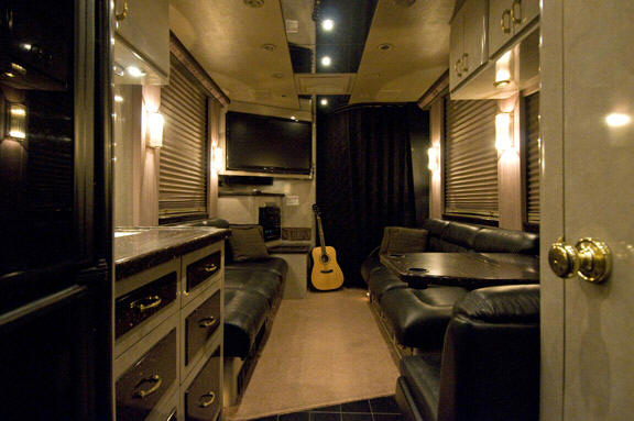 front lounge on band bus for sale